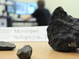 Осколок челябинского метеорита показали на выставке в Праге