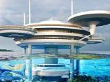 На Мальдивах будет построен водный отель в виде диска