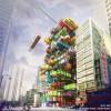 Становится популярной модульная конструкция зданий из контейнеров