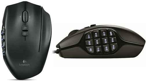 Logitech разработала 20-кнопочную мышку