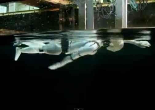 Японские ученые обучают робота плаванию
