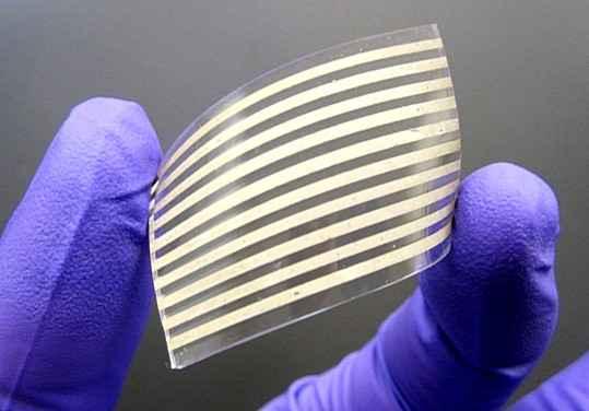 Серебряные нанопроводники могут помочь в улучшении гибкой электроники