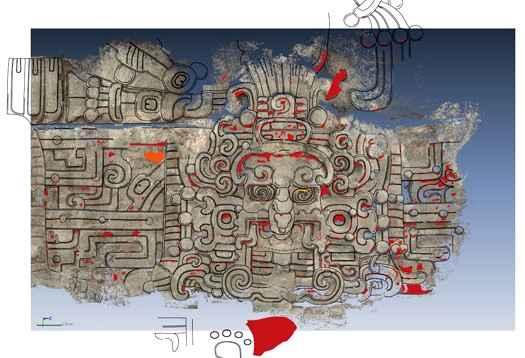 В пирамиде обнаружена маска Солнца цивилизации майя