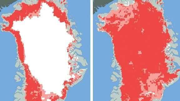 Спутники заметили стремительное таяние льдов Гренландии