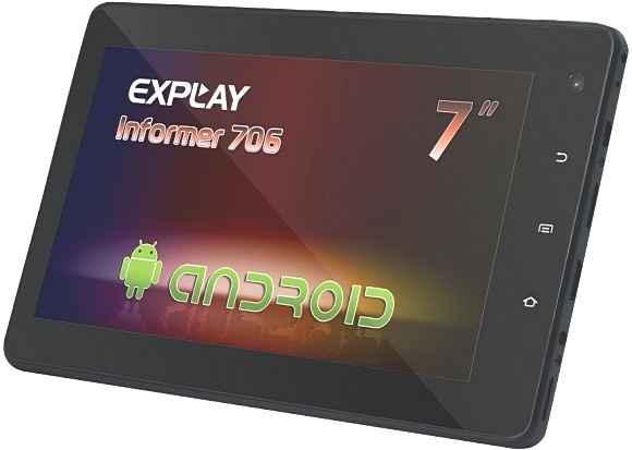 Новый планшет Explay Informer 706 с 3G-модулем