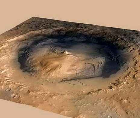 Специалисты НАСА произвели подсчет точного места посадки марсохода Curiosity