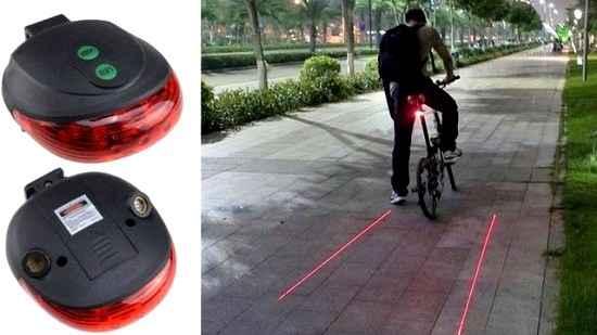 Slancio создала лазерную дорогу для велосипедистов