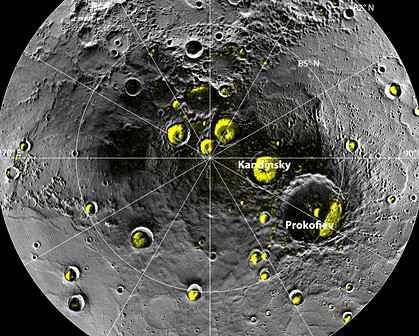 На планете Меркурий найдена вода