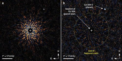 Японские астрономы увидели новую экзопланету GJ 504 b