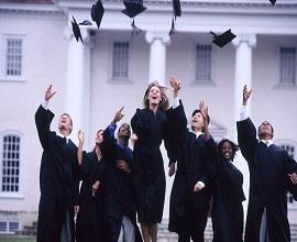 Ecstatic graduates